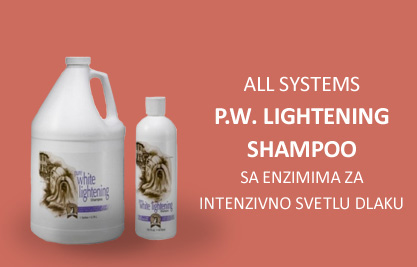 All Systems: P.W. Lightening Shampoo, sa enzimima za intenzivno svetlu dlaku