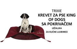 Trixie: Krevet za pse KING OF DOGS - sa prekrivačem